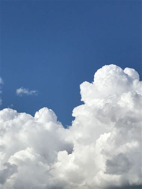 aesthetic wallpaper blue clouds