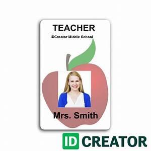 teacher id card ships same day from idcreatorcom With teacher id card template