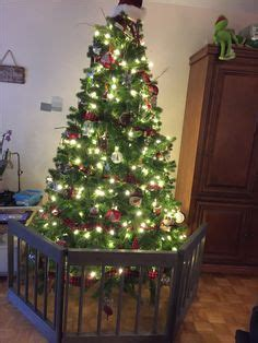 christmas tree fence for dogs how to childproof your tree build a fence by simply janelle designs www