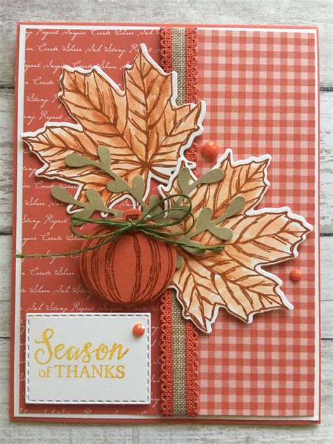 stampin  fall cards handmade thanksgiving cards