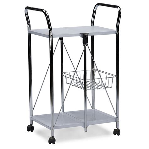 folding tray rolling cart modern furniture brickell