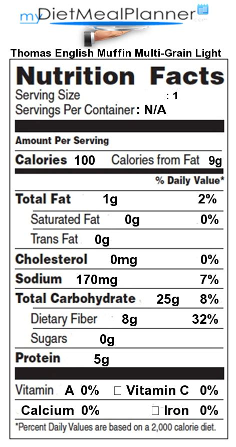 nutrition facts label breads cereals 18