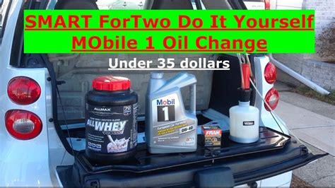 smart fortwo diy cheapest oil change    dollars