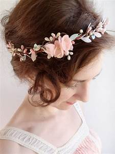 Mint Hair Piece Floral Crown Mint Flower Circlet Blush