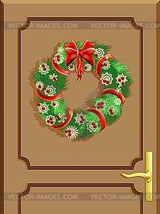 Weihnachtskranz Für Tür : t r mit einem weihnachtskranz clipart ~ Sanjose-hotels-ca.com Haus und Dekorationen