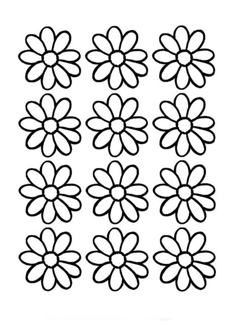 daisy flower outline   clip art