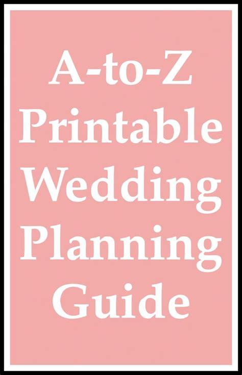 printable wedding planning guide wedding planning