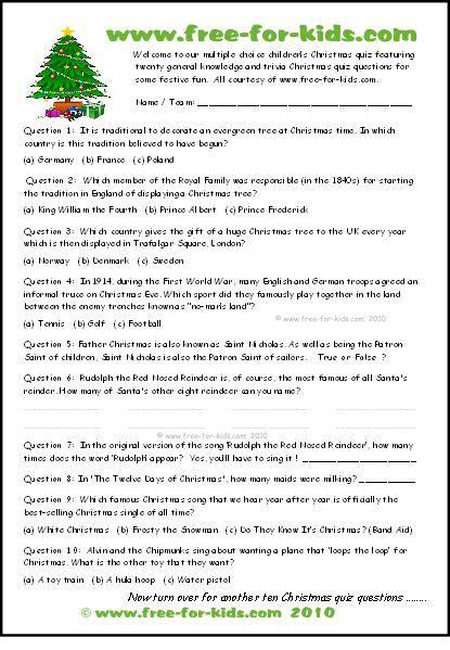 xmas multiple choice quiz thumbnail  images