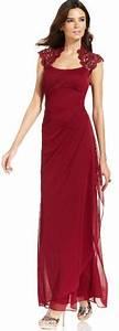 robe de soiree en dentelle rouge satinee taille empire With robe bordeau soirée