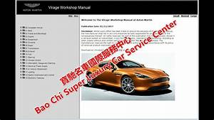 Aston Martin Virage Workshop Manual  Service Manual