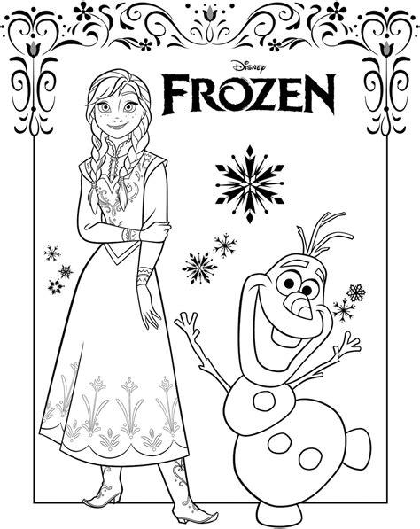 Cetakan Salju Frozen Stencil kumpulan gambar mewarnai frozen untuk tk dan sd