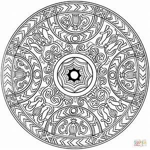 Ausmalbild Mandala Mit Ornament Ausmalbilder Kostenlos