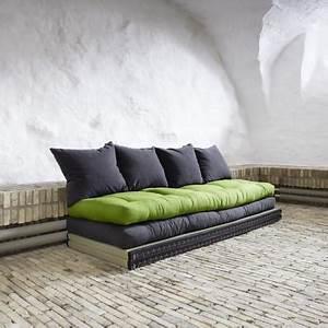 banquette futon capitonne tatami convertible kaiteki With tapis de course pas cher avec canapé convertible en velours