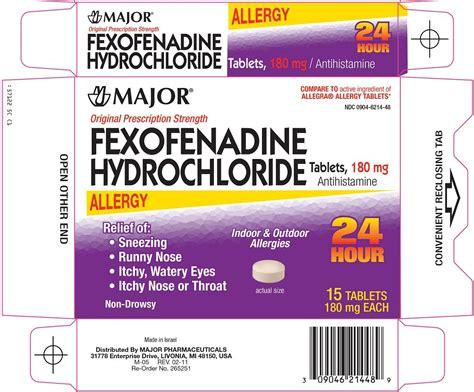 fexofenadine hci 1 2 dimethoxybenzene