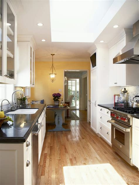 Modern since a kitchen designs feature a small galley kitchen ideas and inspiration photos ideas galley kitchen remodel ideas and is one wall kitchen designs ideas and selection for small home small. Tips to Maximize Galley Kitchen Space - AllstateLogHomes.com