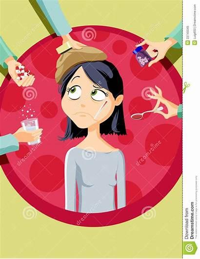 Illness Illustrations Cartoons