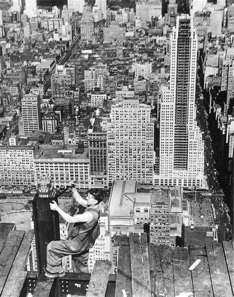 New York Empire State Building Construction