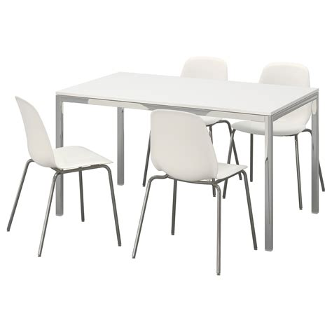 torsby leifarne table and 4 chairs high gloss white white