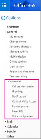 Office 365 Outlook Voice Access by Set Up Your Voice Mail Outlook