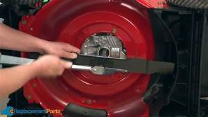 How To Replace The Mulching Blade On A Troy