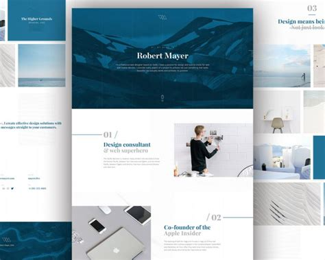 Free Personal Website Templates Personal Website Template Free Psd Psd