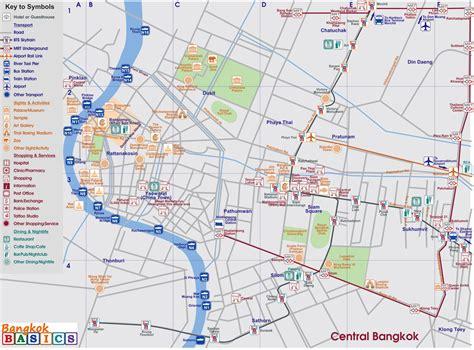 map  central bangkok bangkok basics bangkok basics