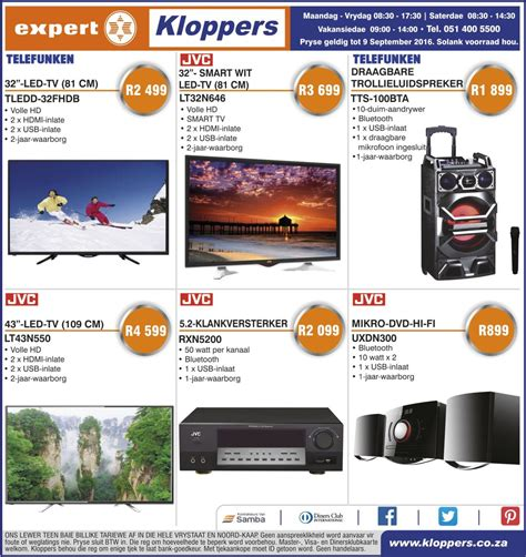 kloppers weekly specials  sep   sep  black