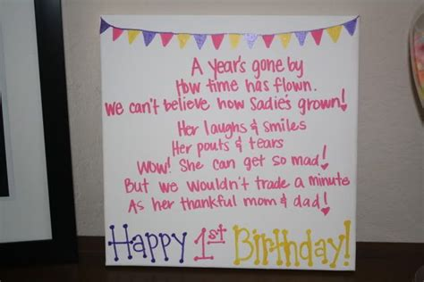 1st birthday quotes quotesgram