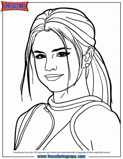 Coloring Pages Selena Gomez Famous Outline Drawings