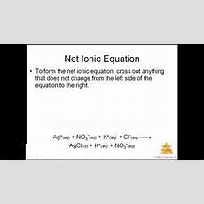 Apc 0 3 Writing Net Ionic Equations Youtube
