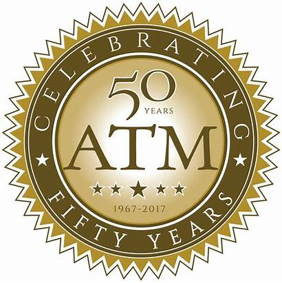 Years Anniversary 50th Golden Transparent Jubilee Atm