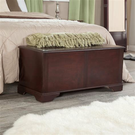 End Of Bed Storage Chest by Wood Storage Bench Entryway Modern Accent Hallway Foyer