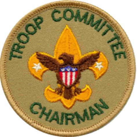 cub scout committee chair patch placement boy scout troop 780 troop committee chairman