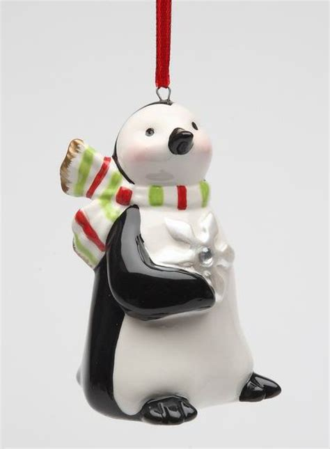 penguin w snowflake and color scarf christmas tree