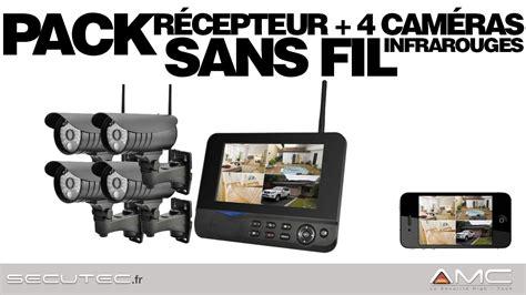 pack videosurveillance alarme 4 201 ras sans fil waterproof secutec fr