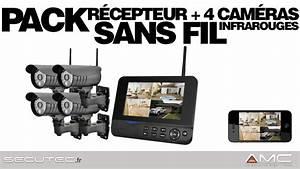 Camera De Surveillance Sans Fil Exterieur : pack videosurveillance alarme 4 cam ras sans fil ~ Melissatoandfro.com Idées de Décoration