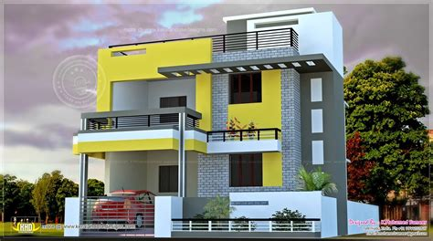 floor plan for duplex elevations of residential buildings in indian photo