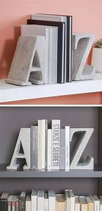 Easy Diy A To Z Bookends At Home In Love