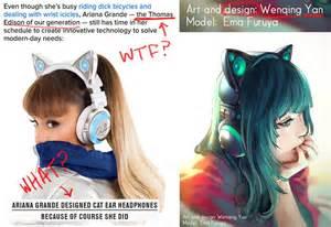 cat ear headphones yuumei yuumei wenqing yan deviantart