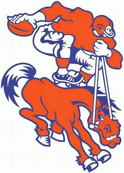 Broncos Denver Logos Clipart 1962 Football Retro
