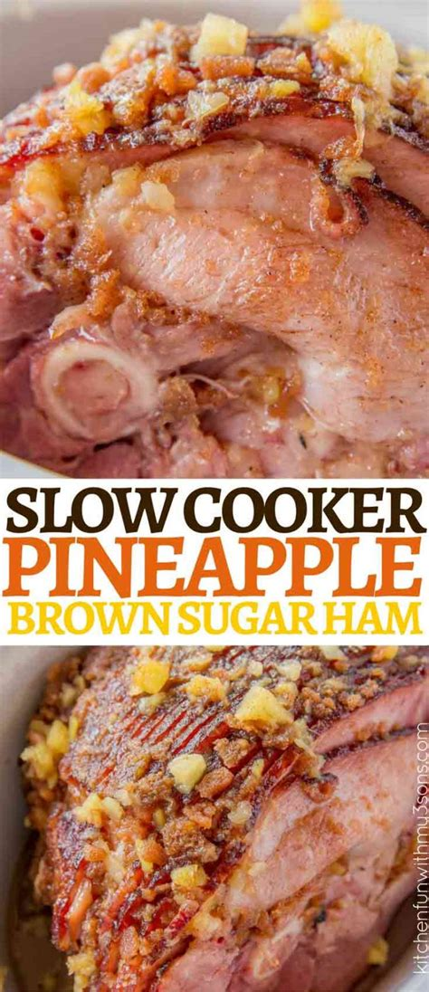 pineapple ham sugar cooker brown slow recipes easiest chicken sweet crockpot kitchenfunwithmy3sons awesome check fun baked