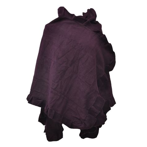 parure bureau cuir poncho cape polaire femme violet toutacoo sur avenue