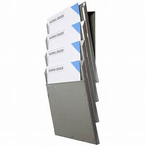 a4 cascading document display system With wall mounted document display