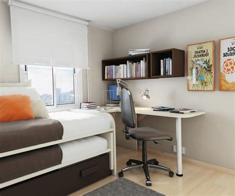 desks for small rooms small bedroom desks for a narrow bedroom space homesfeed