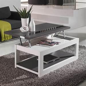 Table Basse Relevable Pas Cher : table basse bois blanche d co et saveurs ~ Teatrodelosmanantiales.com Idées de Décoration
