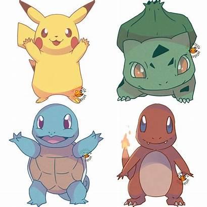 Kanto Starters Deviantart Autobottesla Commission Pokemon Pikachu