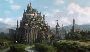 fortress by Lee b | Fantasy Castle Art | Pinterest ...