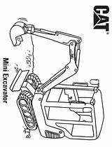 Excavator Coloring Printable Construction Categories A4 sketch template