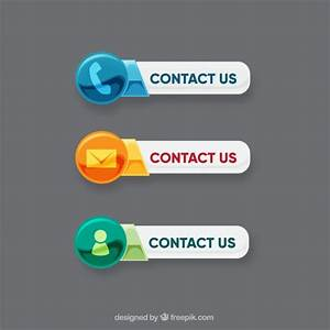 Contact buttons with different icons Vector | Free Download