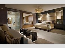 Bedrooms Large Master Bedroom With Brown Luxury Bed